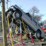 Truck up a pole