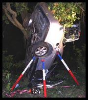 Rescue 42 Struts 101: stabilizing a car in a tree