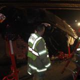 Car Under Train Tressel
