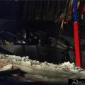 Semi Rollover Crushes Vehicle
