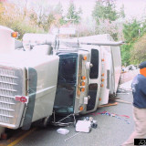 Double Semi Accident