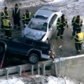 Partially Hanging SUV