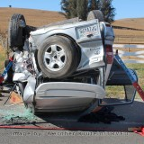 Upside down Car Extrication