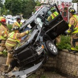 Double SUV Crash