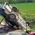 Vehicle Rollover into Ditch Extrication